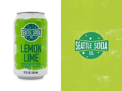 Seattle Soda - Lemon Lime seattle soda logo branding graphic design illustration