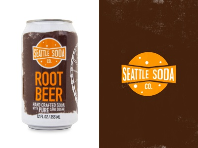 Seattle Soda - Root Beer illustration seattle soda branding logo graphic design