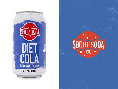Seattle Soda - Diet Cola soda seattle branding logo graphic design illustration handcrafted