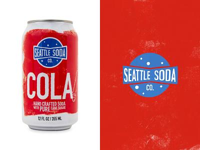 Seattle Soda - Cola hand crafted cola soda seattle logo branding graphic design illustration