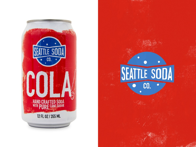 Seattle Soda - Cola hand crafted cola soda seattle logo branding graphic design illustration