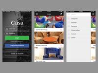 Casa app login flow