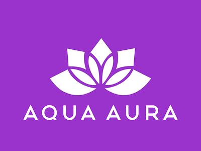 Aqua Aura flat logo business logo logo maker modern logo design logo graphic design