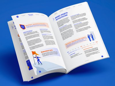 Double page example illustration animation strategy post page illustraion powerpoint presentation powerpoint keynote infographics ppt icon slides presentation design