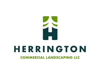 Herrington Commercial Landscaping Logo Design landscaping rebranding visual identity design graphic design branding agency branding studio design branding design brand identity design brand identity logo design branding logo