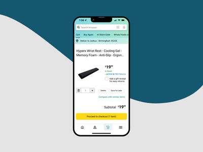 Amazon Checkout Page UX/UI Design checkout page design graphic design user experience design adobe xd app design ux design dailyui ux ui