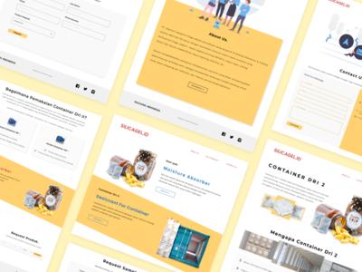 Concept - Design Website Silicagel Product illustration catalog cart design figma indonesia company profile portofolio product page landing pages yellow clean design web design concept