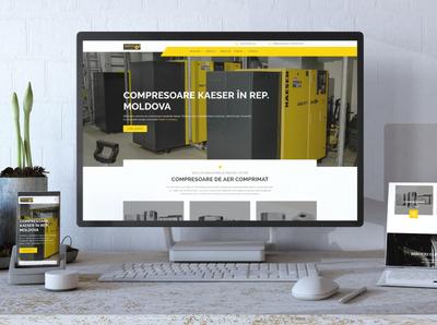 Industrial Machinery Website website design freelance moldova web design machinery industrial industry