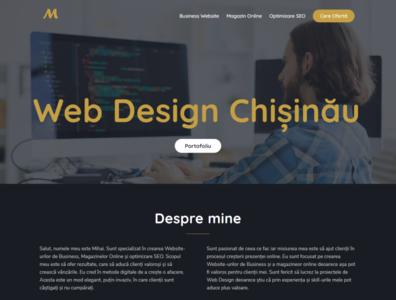Freelacer Web Designer   mihaisiscanu.com website portofolio chisinau moldova freelancer freelance website design web design web webdesign