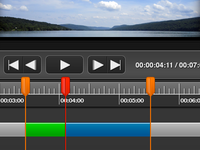 Video Editor: Playback Controls and Timeline Editor