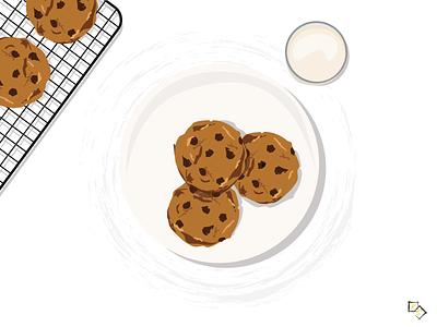 Dessert Time: Cookies and Milk adobe illustrator adobe milk cookie monster cookies cookie dessert illustraion inspiration imagination illustrations illustration art illustration illustrator designs designer design