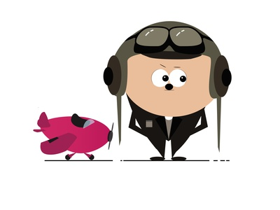 Pilot pink air man airplane pilot inspiration imagination illustrator illustrations illustration art illustration illustraion designs designer design
