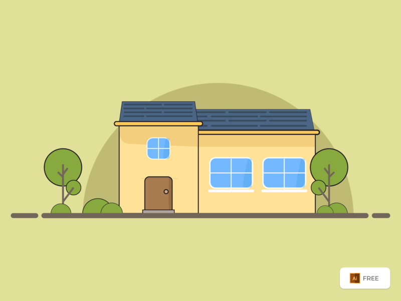Home Illustration - Freebies