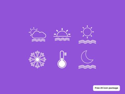 Icon weather - Freebies iconography illustrator illustration freebies icon design icon set weather icon weather icon