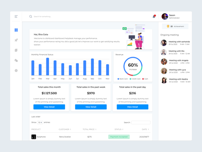 Financial Dashboard - Free download dashboard ui stats web design finance dashboad design ui ux illustration freebies