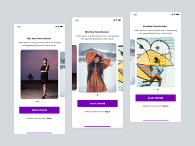 Onboarding Fashion App iphone mobile design ios onboarding uiuxdesign fashion app fashion ux ui freebies