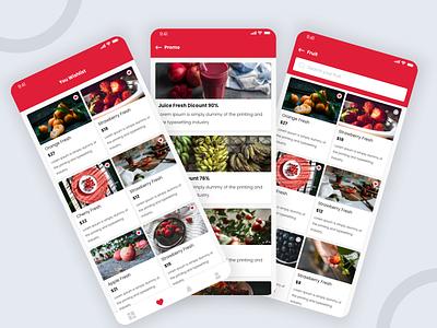 Grocery App - Free UI KIT ui ux design iphone android ios sketch grocery grocery app ux ui freebies