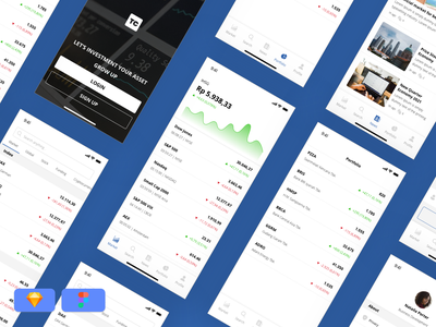 Trading App - Free Download finance app app design iphone ios trading trading app charts ui ux freebies