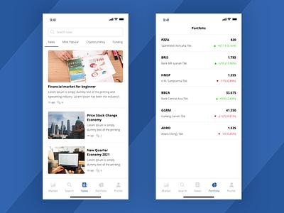 Trading App - Free UI KIT ui ux design mobile design ios app design finance app trading app chart ux ui freebies