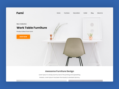 Furniture Web Design - Free Download clean ui product design landingpage website web design furniture website furniture ux ui freebies