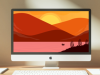 Bakcground Sunset Wallpaper - Freebies