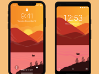Wallpaper Sunset Iphone and Android - Freebies
