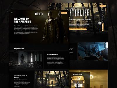 Wraith: The Oblivion — Afterlife vr game horror web ui design