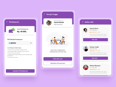Mobile UI Design - Waiting Room product design uxdesign ux uidesign uiux ui redesign concept