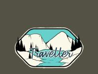 mountain traveller badge desain