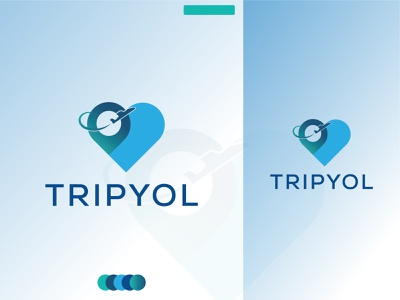 travel logo for tripyol4 logos travel logo  letter logo logos illustration graphics travel logo love logo design branding animation logo   logo design logo