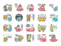 Recycled Character Stickers
