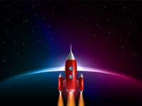 rocket launch  on space