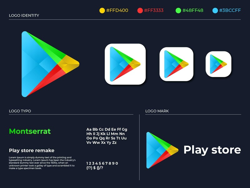 Play store logo remake ux user interface usable ui smartphone simple rich professional modern mobile development mobile logo it development creative consulting byte business application app