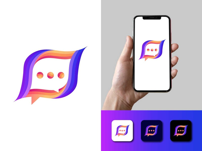 chat icon app logo media logo internet image illustrator icon graphic flat feedback design creativity creative conversation connect chit chat chatting chat bubble chat branding app
