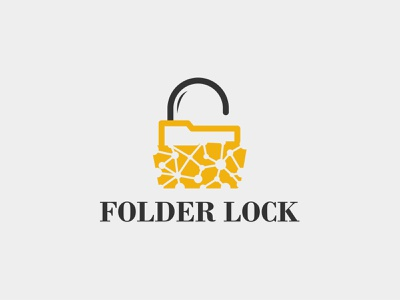 Folder lock logo design protector protection protect logo locks lock it information info important icon folder files file document docs doc digital data abstract