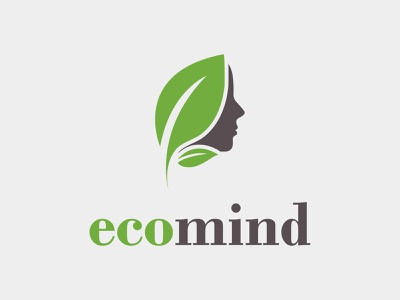 Ecomind logo design people nature natural medicine massage lotus joyful identity human healthy health environmentalist environmental environment ecological ecologic eco branding brand body