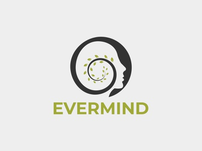 evermind mental health logo tree head tree therapy service psychology nature mentality mental human hospital health head tree head green doctor business