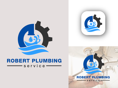 plumbing service logo water vector logo vector technician water service replace repair plumbing logo plumbing plumber pipes meisuseno maintenance installation handyman drain corporate company clean business