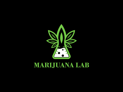 cannabis lab medical logo organic oil nature medicine medical marijuana logotype logo lab herbal herb hemp health green ganja eco drug cbd cannabis leaf