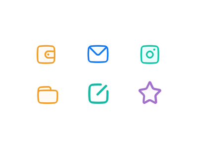 Icon style exploration / expansion icon swell icon swell icon linear icon ux icons ui