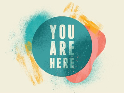You are here festival identity 2019