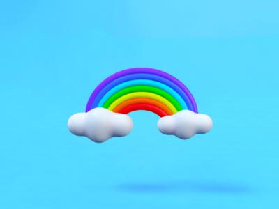 3D effect,Cinema 4D- rainbow