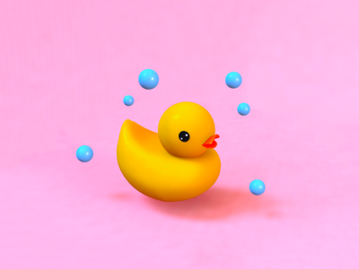 3D effect,Cinema 4D- duck