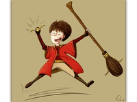 Lil Harry & his first quidditch