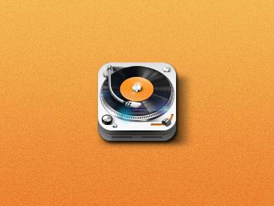Tunesmate app icon iphone icon app radio player dj music turntable ui design web ios gui