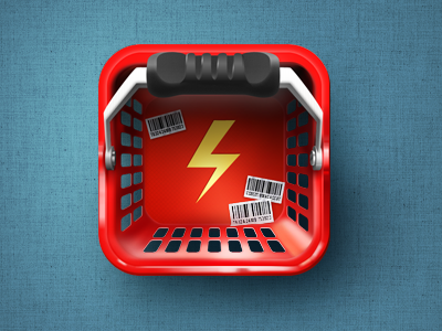 Quicket Icon test icon app market basket lightning iphone shop deal shopping cart