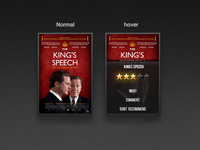 Film Rating UI hover