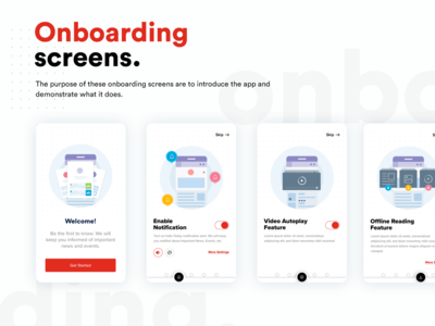 Onboarding screens