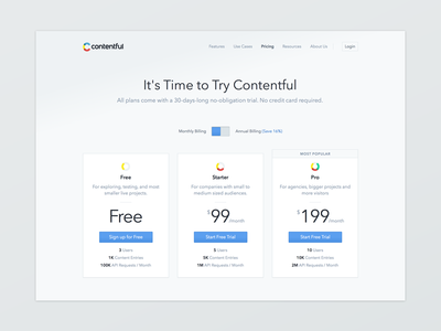 Contentful Pricing Page
