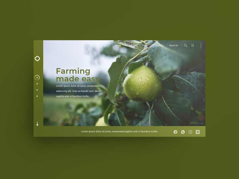 Farm Landing page Concept product designer landing page ux icon uiux adobe xd animation job product designer farm ui vector design uidesign illustrator illustration typography product design branding